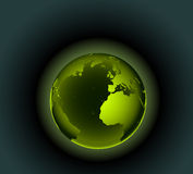 Green Earth. Vector illustration of planet earth - environmental concepts - Green Earth. Africa, Europe and part of America are visible Stock Photo