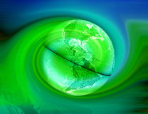 Green Earth - Abstract Stock Photo