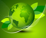 Green Earth abstract composition Royalty Free Stock Photography