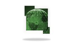 Green earth on abstract screen Royalty Free Stock Photos