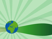 Green earth background Stock Photography