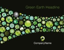 Green earth background Royalty Free Stock Images