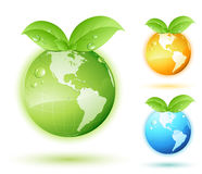 Green earth concept. With various colors royalty free illustration