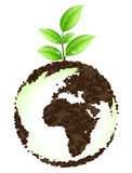 Green earth concept. With a plant vector illustration
