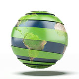 Green earth concept. Earth map provided by NASA Stock Photography