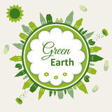 Green earth concept illustration Stock Photo