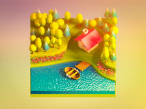 Green earth concept in isometric view Stock Image