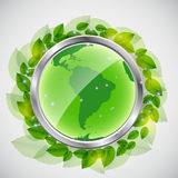 Green earth concept. Vector iilustration Stock Photos