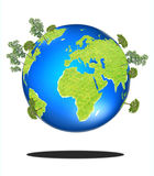 Green Earth, covered with grass and tree Royalty Free Stock Photo