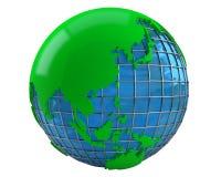 Green earth 3d model Royalty Free Stock Photo