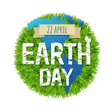 Green Earth Day. With Gradient Mesh, Vector Illustration Stock Image