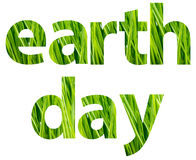 Green Earth Day Words Concept. Isolated On White vector illustration