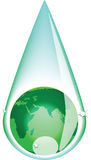 Green earth drop Stock Photos