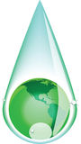 Green earth drop 2 Royalty Free Stock Photography
