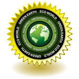 Green earth eco icon Royalty Free Stock Images