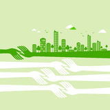 Green earth- ecology concept with comunication Stock Photo