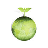 Green Earth Emblem Stock Image
