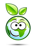 Green earth emoticon Stock Photos