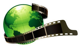Green earth and film. Vector: green earth and film Royalty Free Stock Photography