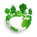 Green earth with forest abstract Royalty Free Stock Photo