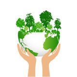 Green earth and forest eco concept Royalty Free Stock Image