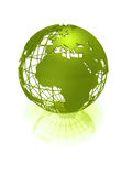 Green earth globe Stock Photo