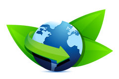 Green earth globe Royalty Free Stock Photos
