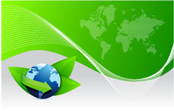 Green earth globe eco Royalty Free Stock Image