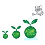 Green earth globe Stock Photo