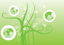 Green Earth Graphic. Green globe with some basic graphic backgroud Royalty Free Stock Photography