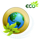 Green Earth - Green Planet Stock Photo