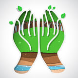 Green earth in hand Royalty Free Stock Image