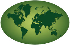 Green earth planisphere stock photography