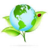 Green Earth Icon Stock Photo