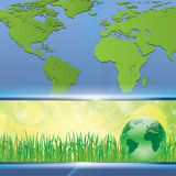 Green earth map environmental concept Royalty Free Stock Photo