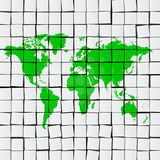 Earth map tiles Stock Photo