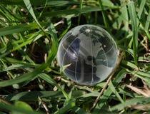 Green earth North America. Crystal clear green earth macro North America stock image