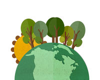 Green Earth. Royalty Free Stock Images