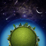 Green Earth planet Royalty Free Stock Images