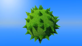 Green Earth planet with firtrees. Concept and blue sky. Large resolution Stock Image
