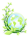 Green earth with plant Stock Photography