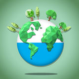 Green earth polygon Royalty Free Stock Images