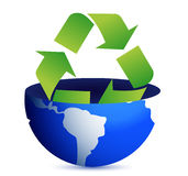 Green earth recycle concept. Illustration design Royalty Free Stock Image