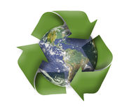Green earth recycle concept. On white background Stock Images