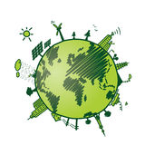 Green earth, recycle and energy environmen protection Royalty Free Stock Photo