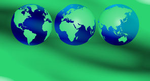 Green earth recycling background Royalty Free Stock Photography