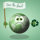 Green earth for recycling Royalty Free Stock Photography