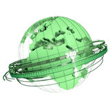 Green earth rotation Stock Images