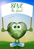 Green earth for save the planet Stock Images