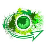 Green earth with splashed nature Stock Images
